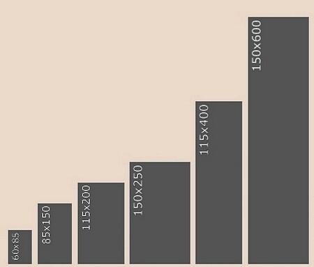 Размеры ковровых покрытий