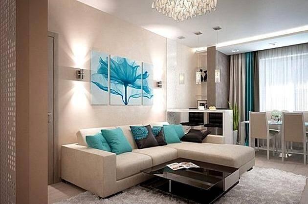 Модульные картины - сочетание с элементами мебели