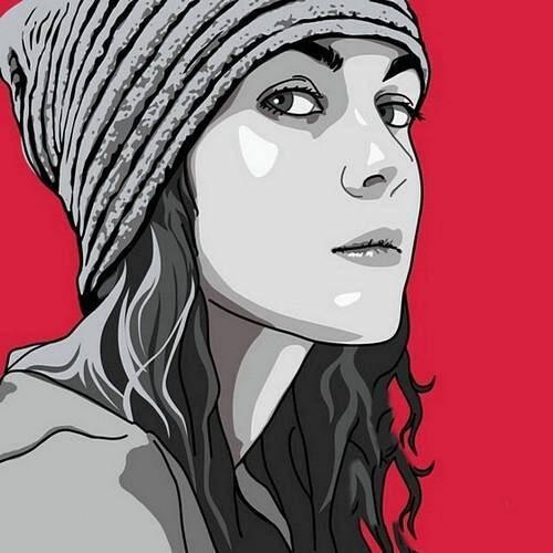 Поп-арт портрет девушки