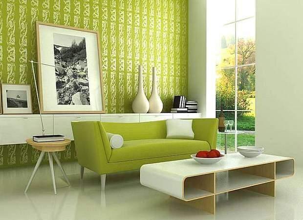 Дизайн интерьера в светло зеленых тонах