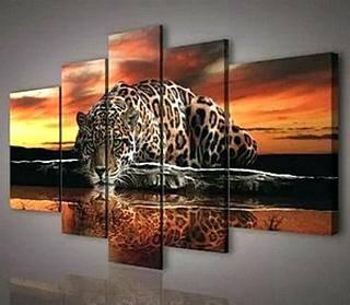 Модульная картина. Леопард