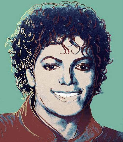 Поп-арт портрет .Майкл Джексон