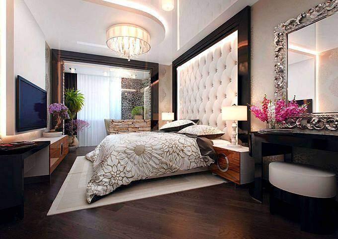 Использование в спальне мягких панелей