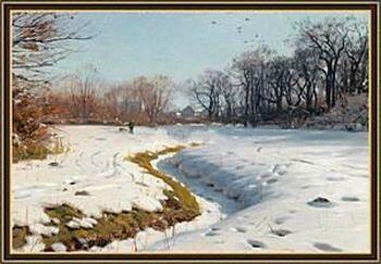 Живопись Зимний пейзаж