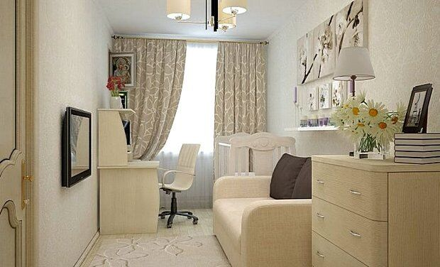 Как визуально увеличить комнату при помощи светлых тонов