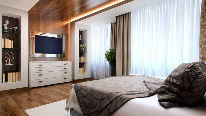 Современная спальня в стиле конструктивизм