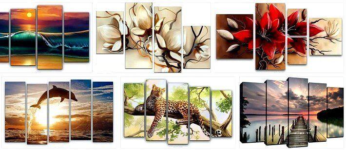 Модульные картины купить в интернет магазине по нормальной цене и отличного качества