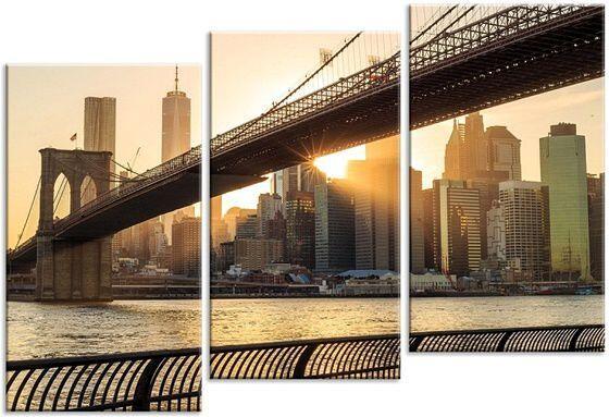 Картина Мост на фоне города
