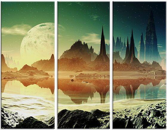 Модульная картина Фантастический пейзаж 2
