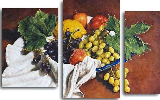 Картина Натюрморт с виноградом, яблоками и лимоном