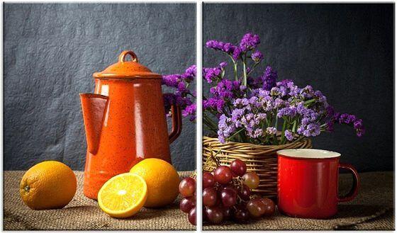 Натюрморт с чайником и кружкой недорого