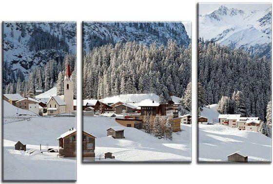 Пейзаж Зима в горах