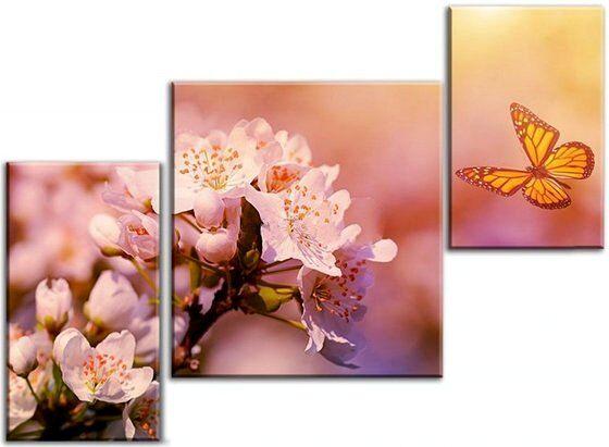 Картина Бабочка и цветок
