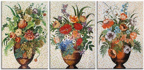 Модульные картины Мозаичные букеты