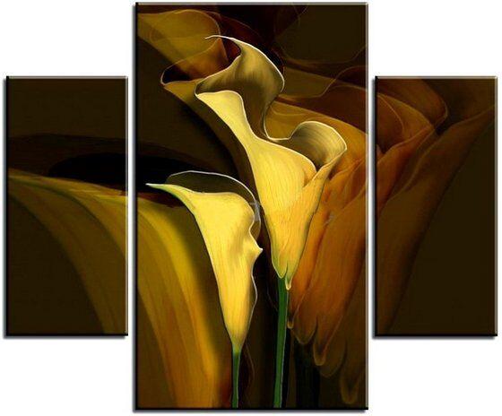 Модульная картина Темные каллы