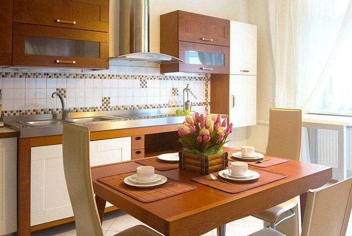 Интерьеры маленьких кухонь