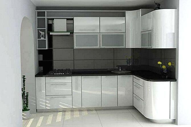 Интерьер кухни в темных и серых тонах