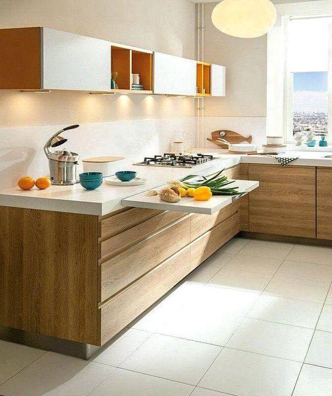 Теплые тона в интерьере кухни