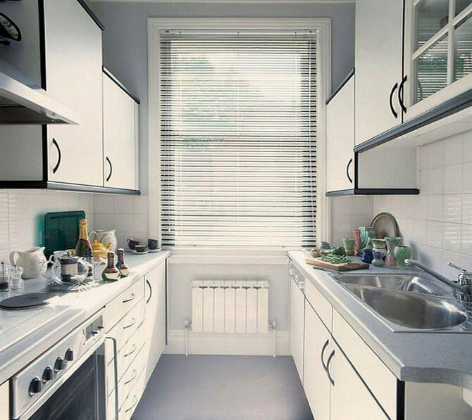 Две линии в планировке кухонь