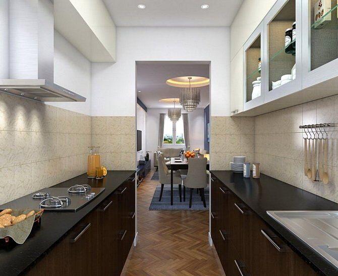Планировка кухонь. Две линии