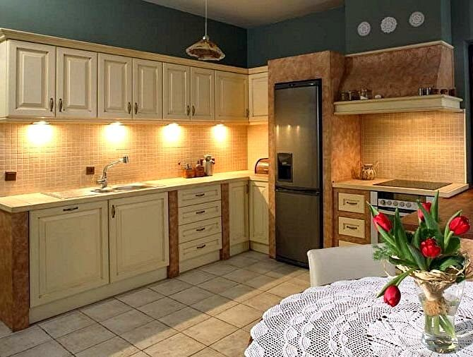 Стиль прованс в интерьерах кухонь