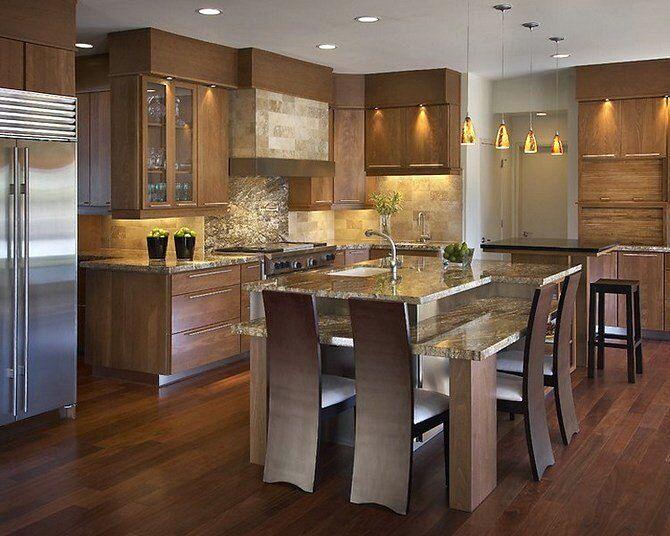 Стиль модерн в интерьерах кухонь