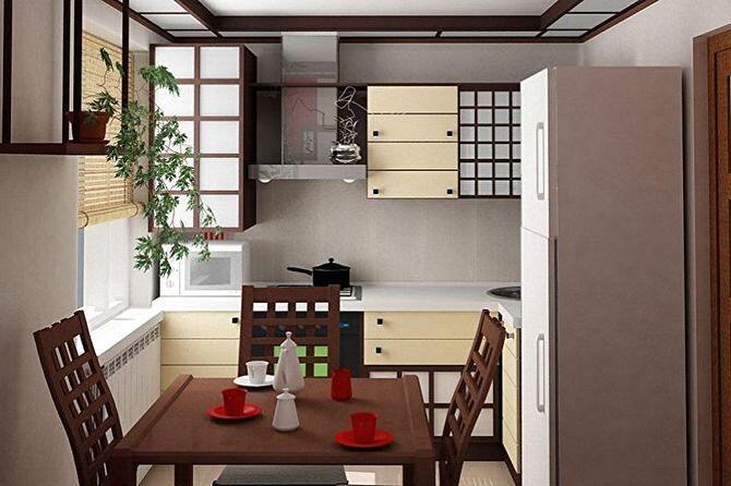 Маленькие кухни в японском стиле