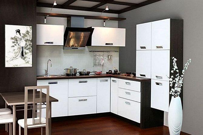 Интерьер маленькой кухни в японском стиле