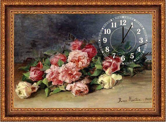 Картина-часы. Розы