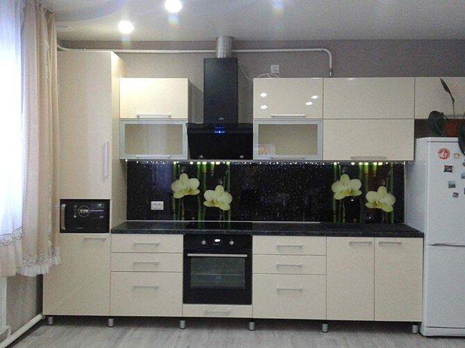 Планировка маленьких кухонь в одну линию
