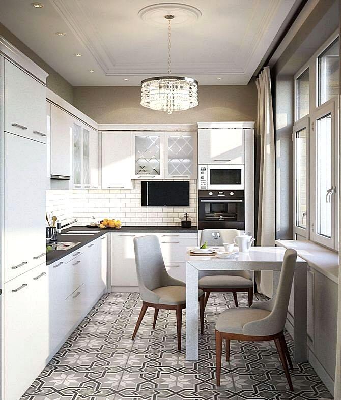 Серо-коричневый интерьер кухни