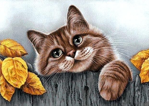 Мозаика гранни. Деревенский кот