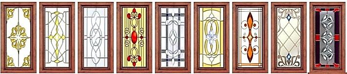 Кухонные фасады с витражом