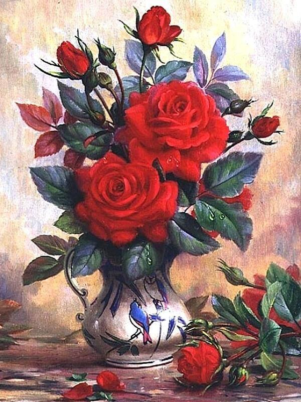 Мозаика из страз. Розы