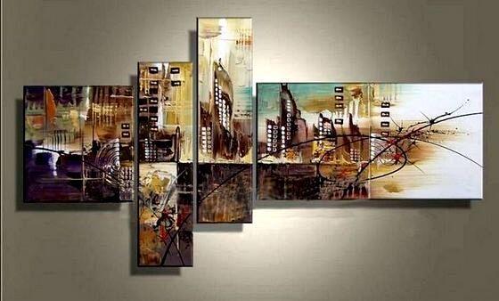 Городской пейзаж на модульной картине