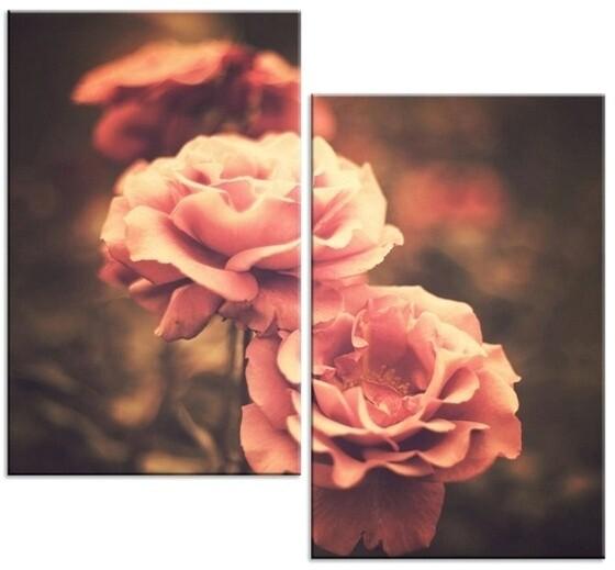 Розы на модульной картине