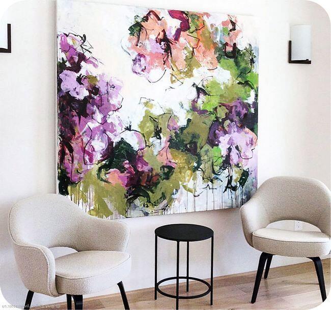 Постер. Абстрактные цветы
