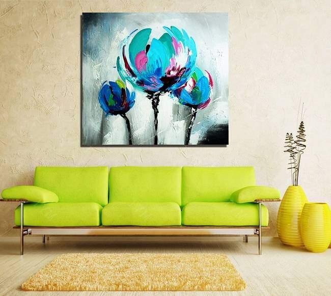 Постер с цветами в стиле абстракции