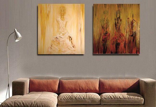 Оригинальная модульная картина в интерьере гостиной