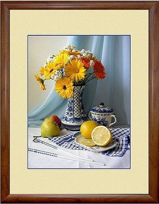 Постер цветы и фрукты