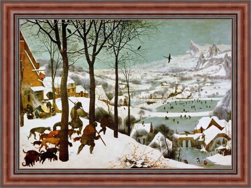 Репродукция Охотники на снегу