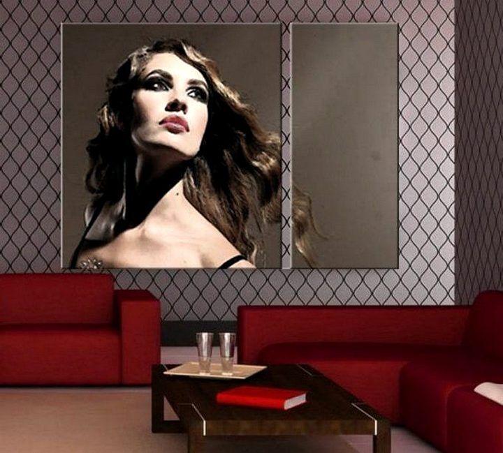 Постер с портретом девушки