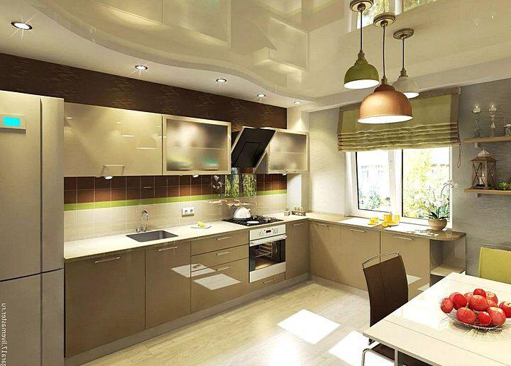 Дизайн кухни в оливковых тонах