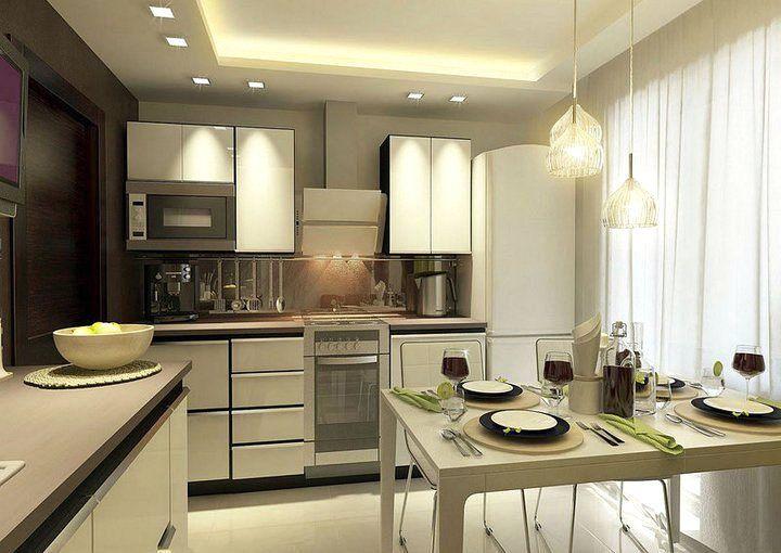 Оригинальные тона в дизайне кухни