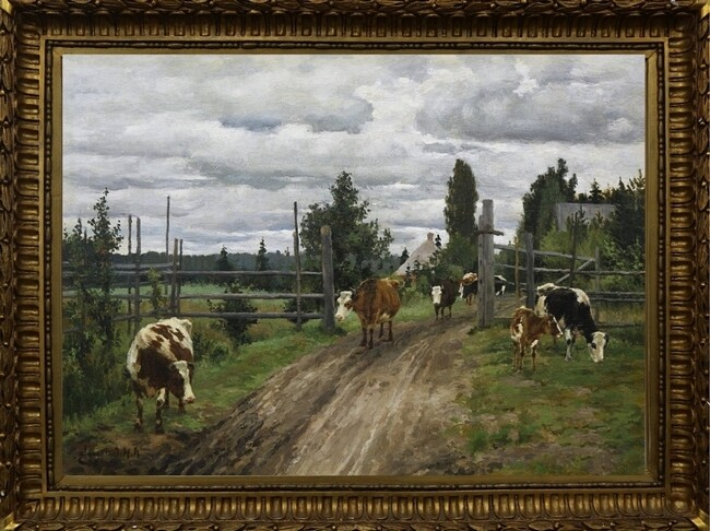 Степанов, Пейзаж с коровами