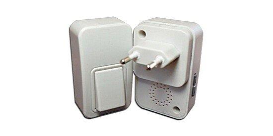 Звонок с автономной кнопкой и питанием от сети