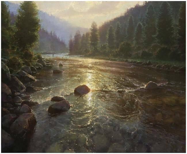 Брент Коттон. Пейзаж с рекой
