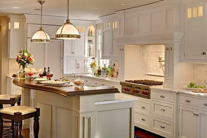 Нежный интерьер кухни