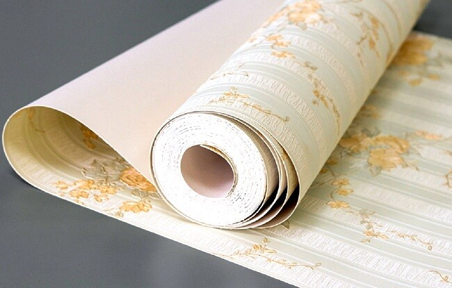 Бумажные обои для гостиной
