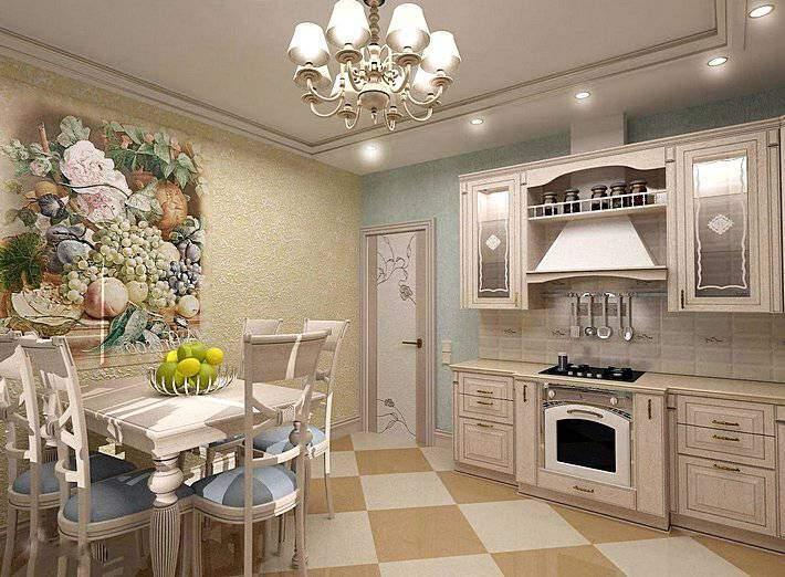 Современный вариант кухни в стиле прованс